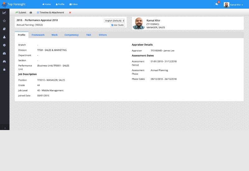 profile bio of one of the performance management solutions